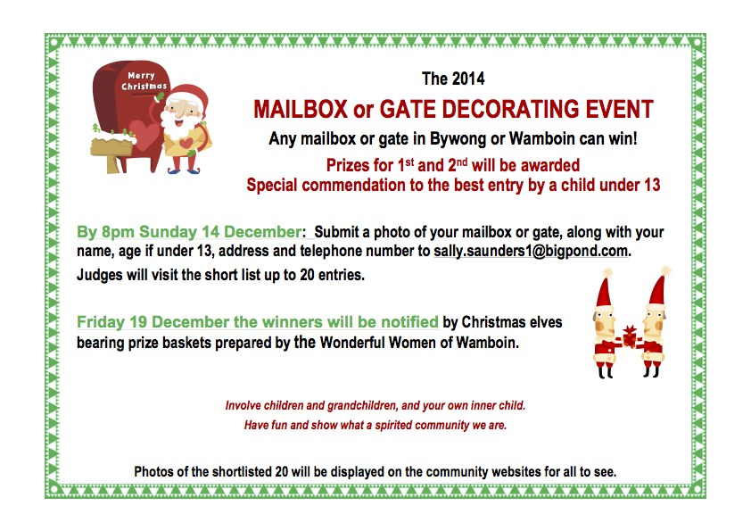 Christmas Mailbox and Gate Decorating Event